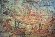 extraterrestres en pintura prehistórica